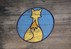 Painted logo